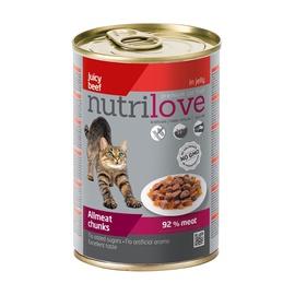 Konservuotas ėdalas katėms Nutrilove Allmeat Chunks, su jautiena, 400 gr