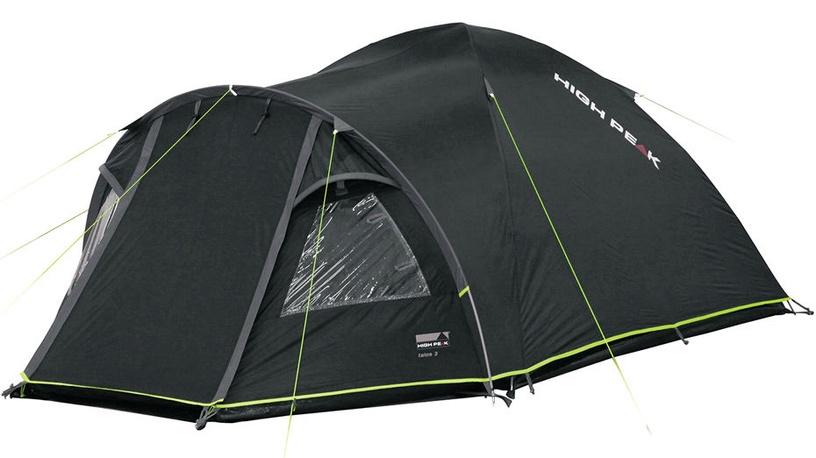 Trīsvietīga telts High Peak Talos 3 11505, zaļa/pelēka