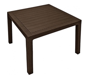 Keter Melody Quartet Garden Table Brown