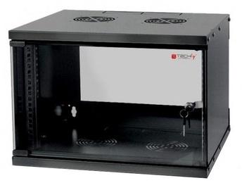 "Techly Wall Rack Cabinet 19"" 6U D320 Black"
