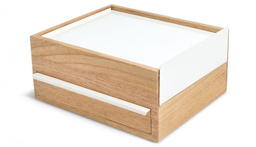 Umbra Stowit Jewelry Box White/Wood