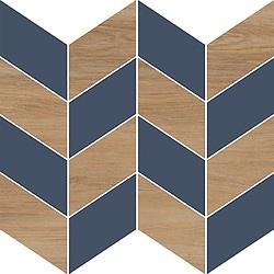 Cersanit Love You Mosaic Tiles 29x29cm Navy Full Satin