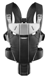 BabyBjorn Baby Carrier Miracle Black/Silver,Cotton Mix 096065E1