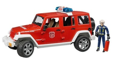 Bruder Jeep Rubicon Fire Rescue With Fireman Vehicle Set 02528
