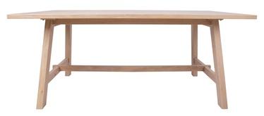 Pusdienu galds Home4you Bergen 18141, ozola, 2200x950x750mm