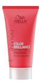 Kaukė plaukams Wella Invigo Color Brilliance Fine, 30 ml