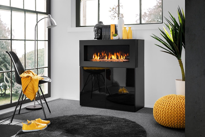 Komoda ASM Camino Uni w/ Fireplace Black