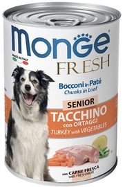 Monge Fresh Chunks Senior With Turkey & Vegetables 400g