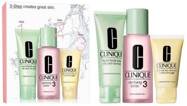 Clinique Skin Type II Liquid Facial Mild Soap 50ml + Clarifying Lotion 2 100ml + Moisturizing Lotion 30ml