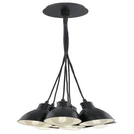 Eglo Priddy 49467 Ceiling Lamp 7 x 60W E27 Black