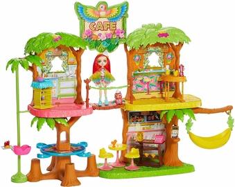 Mattel Enchantimals Junglewood Cafe & Peeki Parrot Doll GNC57