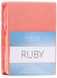 Palags AmeliaHome Ruby, oranža/rozā, 160x200 cm, ar gumiju