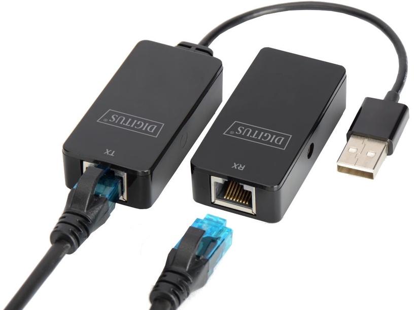Digitus Adapter USB / RJ45 Black 50m