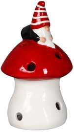 Verners Candle Holder 12cm White/Red