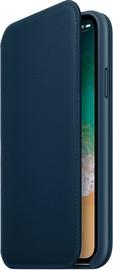 Apple Leather Folio Case For Apple iPhone X Blue