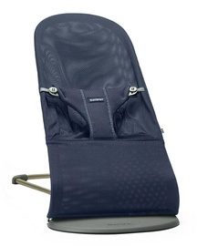 BabyBjorn Bouncer Bliss Navy Mesh + Wooden Toy