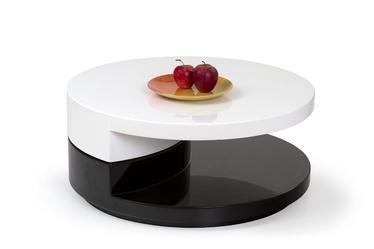 Kavos staliukas Madeleine juodas/baltas, išskleidžiamas