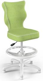 Entelo Petit Black HC+F Size 4 Children Chair VS05 White/Green