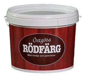 Krāsa fasādēm Ostgota Rodfarg, 10 l, sarkana