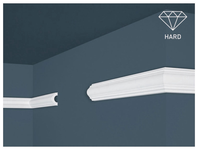 Lubų apdailos juostelės Intero HW-2, balta, 200 x 2 cm