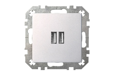 USB kroviklis Liregus Epsilon, metalo spalvos, be rėmelio