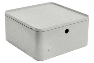 Curver Beton Box Half Cube With Lid L 8.5l Grey