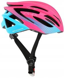Шлем Nils Extreme MTW24, синий/розовый, 550 - 580 мм
