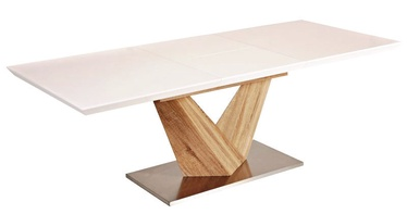 Signal Meble Alaras Dining Table Sonoma Oak/White