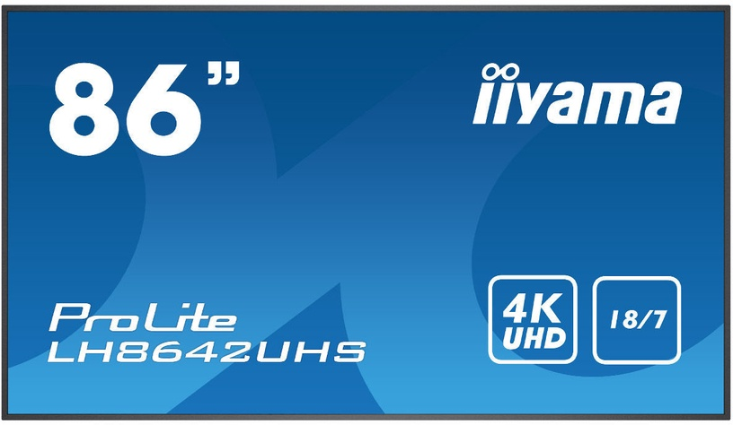 "Monitorius Iiyama ProLite LH8642UHS-B1, 85.6"", 8 ms"