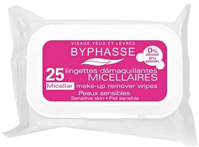 Byphasse Micellar Solution Makeup Remover Wipes 25pcs