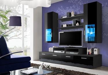 Dzīvojamās istabas mēbeļu komplekts ASM Mini LED Black