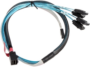 Silverstone SST-CPS05-RE Mini SAS HD To SATA Cable 0.6m