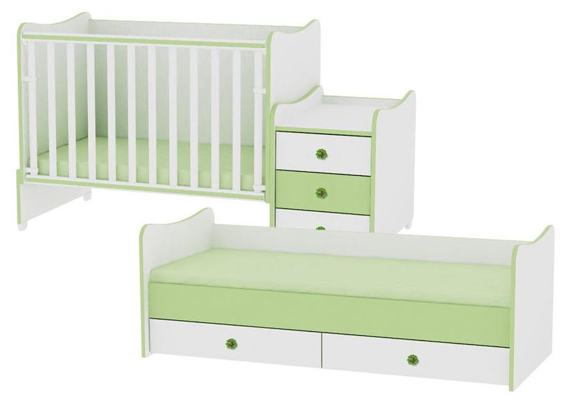 Bertoni Lorelli Bed MAXI PLUS White/Oak