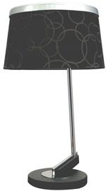 Candellux Impresja Table Lamp 60W E27 Black /Chrome