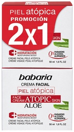 Babaria Atopic Skin Facial Cream With Aloe Vera 2 x 50ml