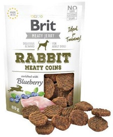 Brit Jerky Rabbit Meaty Coins skanėstas 80g
