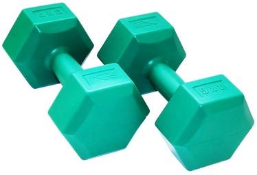 SportVida GYM & Fitness Comfort Dumbbell Set 2x4kg Green