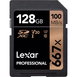 Lexar 128GB Professional 667x SDXC UHS-I Card U3 V30