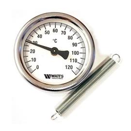 Paviršinis termometras su spyruokle Watts 63MM