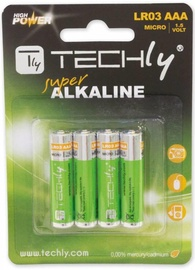 Techly Alkaline Batteries 4x AAA