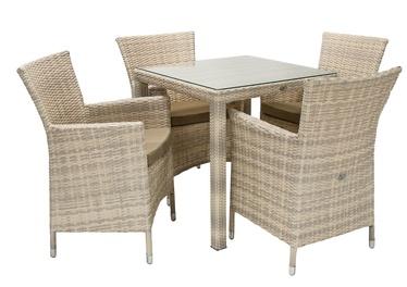 Sodo baldų komplektas Home4you Wicker K13345 Beige
