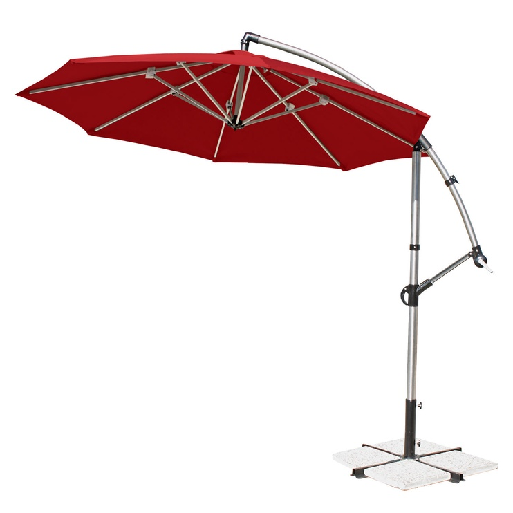Home4you Capri Parasol 300cm Red