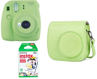 Fujifilm Instax Mini 9 Green + 10SH pack + Case