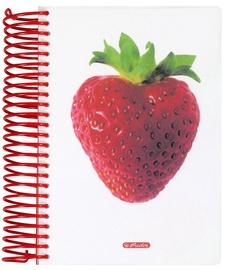 Herlitz Spiral Pad A6 World Of Fruit Strawberry 10927317