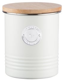 Typhoon Living Airtight Tea Canister With Bamboo Lid 1L Cream