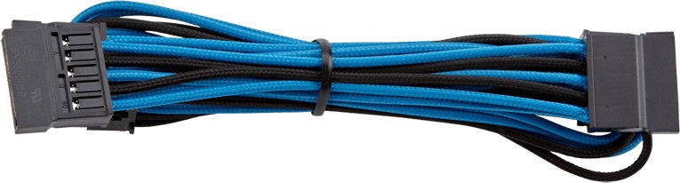 Corsair Premium Individually Sleeved SATA Cable Type 4 (Gen 3) Blue/Black