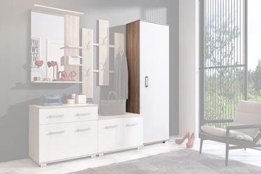 Skapis WIPMEB Lara Sonoma Oak/White, 55x34x179 cm
