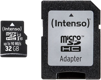 Intenso Professional 32GB microSDHC UHS-I Class 10 + SD Adapter 3433480