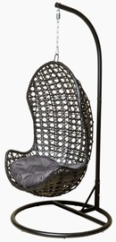 Besk Rocking Chair With Pillow Black