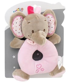 Axiom New Baby Rattle Elephant Pink 16cm 4951e